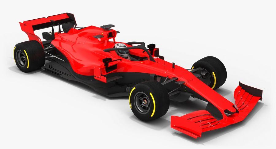 Formula 1 Season 2019  F1 Race Car royalty-free 3d model - Preview no. 5