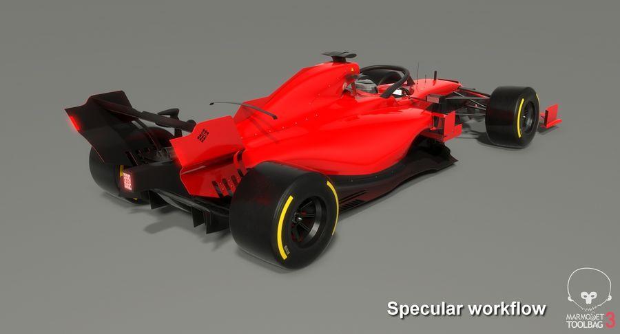 Formula 1 Season 2019  F1 Race Car royalty-free 3d model - Preview no. 22