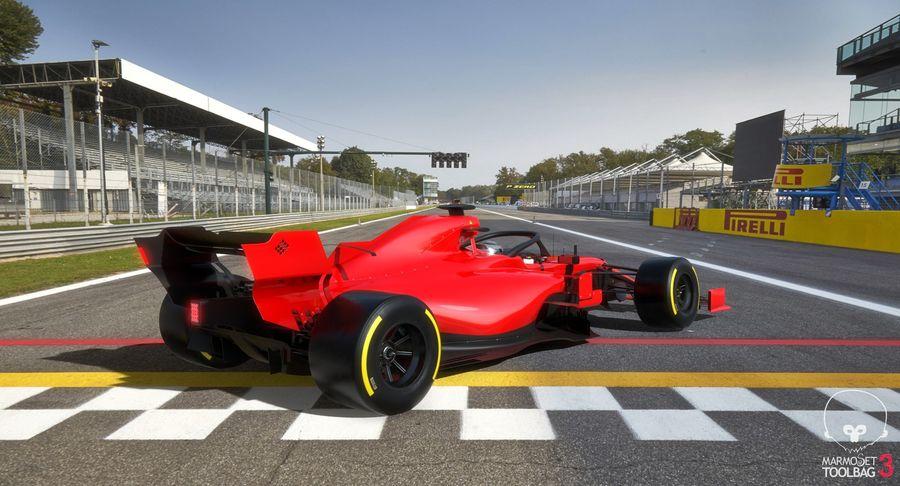 Formula 1 Season 2019  F1 Race Car royalty-free 3d model - Preview no. 12