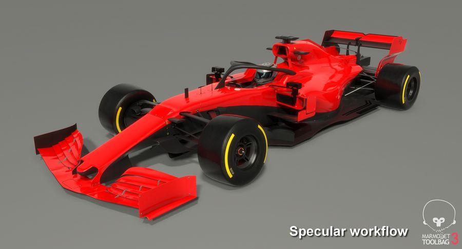 Formula 1 Season 2019  F1 Race Car royalty-free 3d model - Preview no. 19