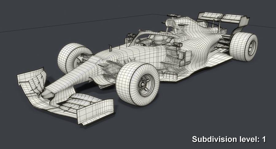 Formula 1 Season 2019  F1 Race Car royalty-free 3d model - Preview no. 14