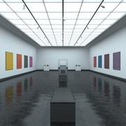Modern Art Gallery 3d model