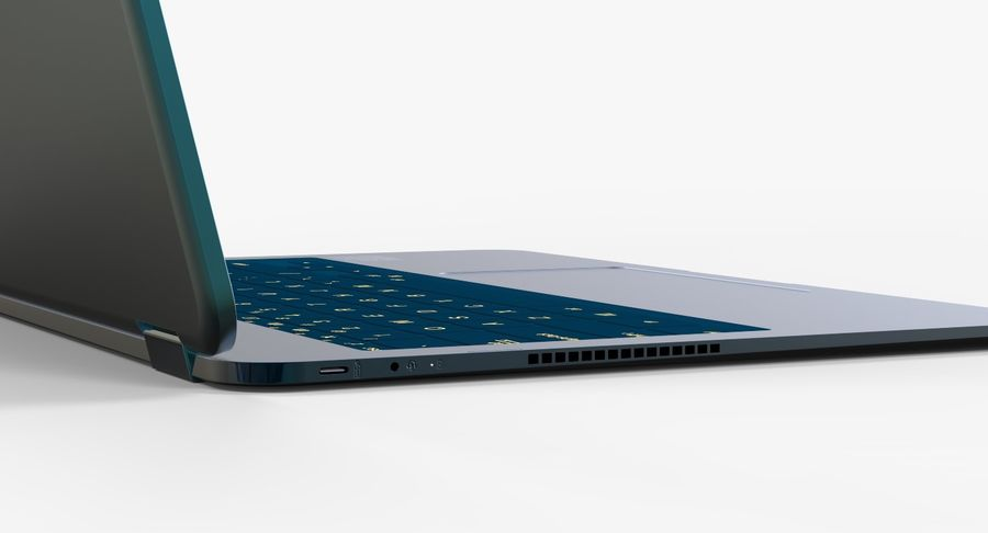 Computer Laptop (Open) royalty-free 3d model - Preview no. 7