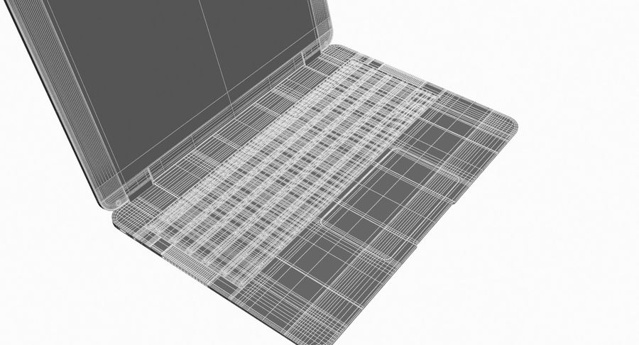 Computer Laptop (Open) royalty-free 3d model - Preview no. 11