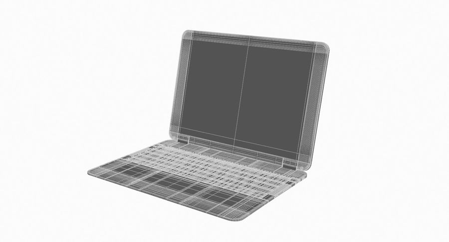 Computer Laptop (Open) royalty-free 3d model - Preview no. 10