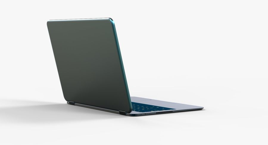 Computer Laptop (Open) royalty-free 3d model - Preview no. 6