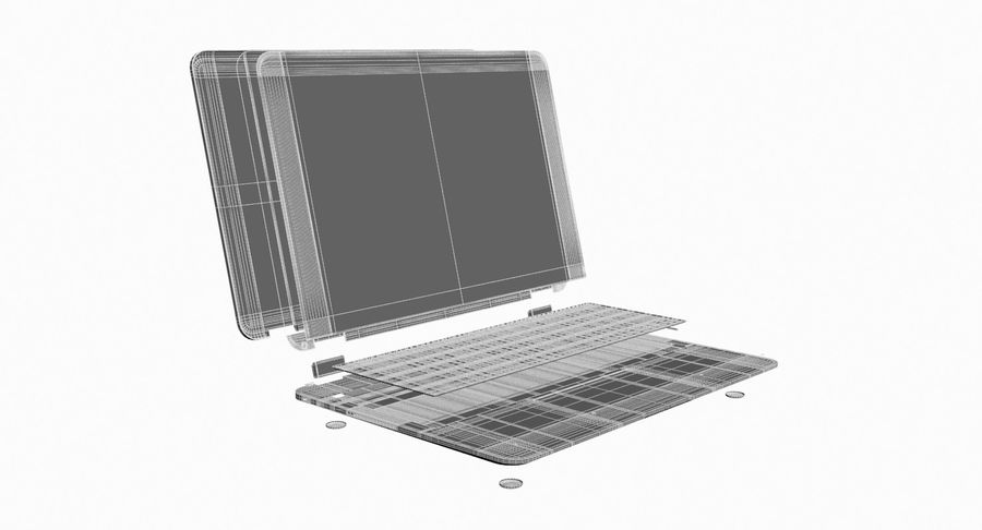 Computer Laptop (Open) royalty-free 3d model - Preview no. 16