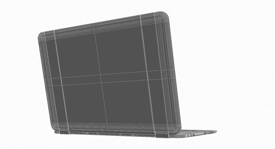 Computer Laptop (Open) royalty-free 3d model - Preview no. 12