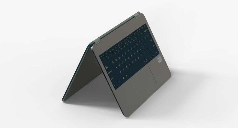 Computer Laptop Flip royalty-free 3d model - Preview no. 3
