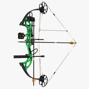Armed Compound Bow Generic 3d model