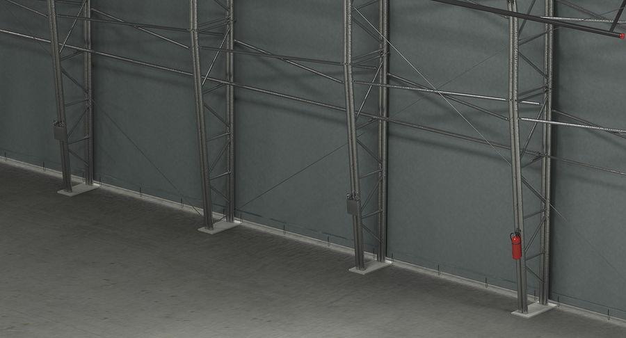 Hangar pour avions royalty-free 3d model - Preview no. 16