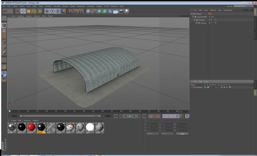 Hangar pour avions royalty-free 3d model - Preview no. 26