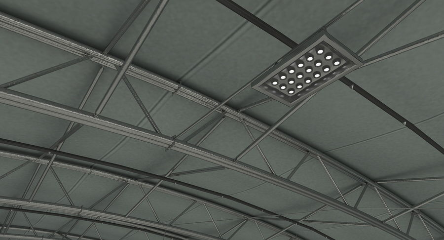Hangar pour avions royalty-free 3d model - Preview no. 12