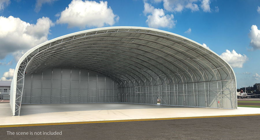 Hangar pour avions royalty-free 3d model - Preview no. 3