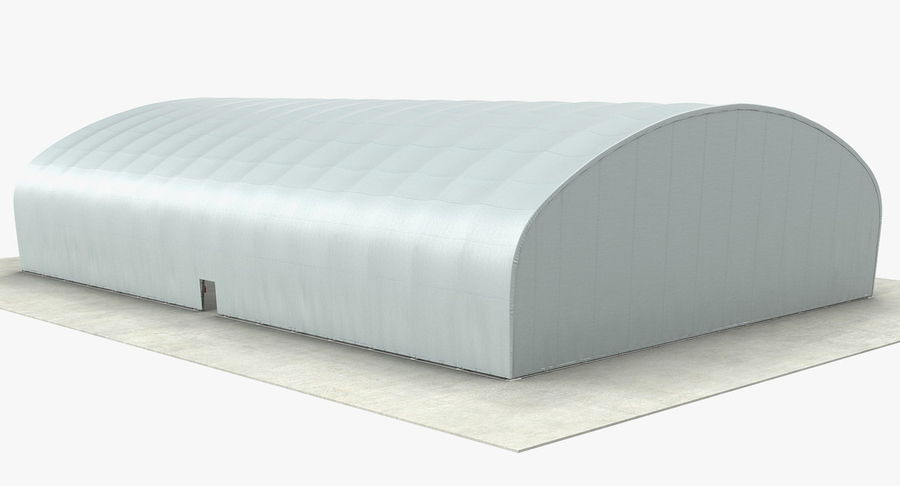 Hangar pour avions royalty-free 3d model - Preview no. 9