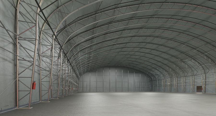 Hangar pour avions royalty-free 3d model - Preview no. 6