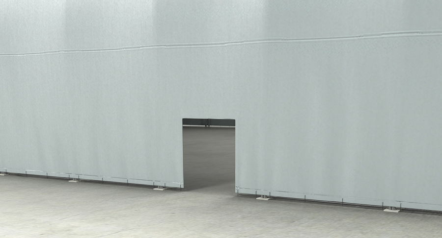 Hangar pour avions royalty-free 3d model - Preview no. 17
