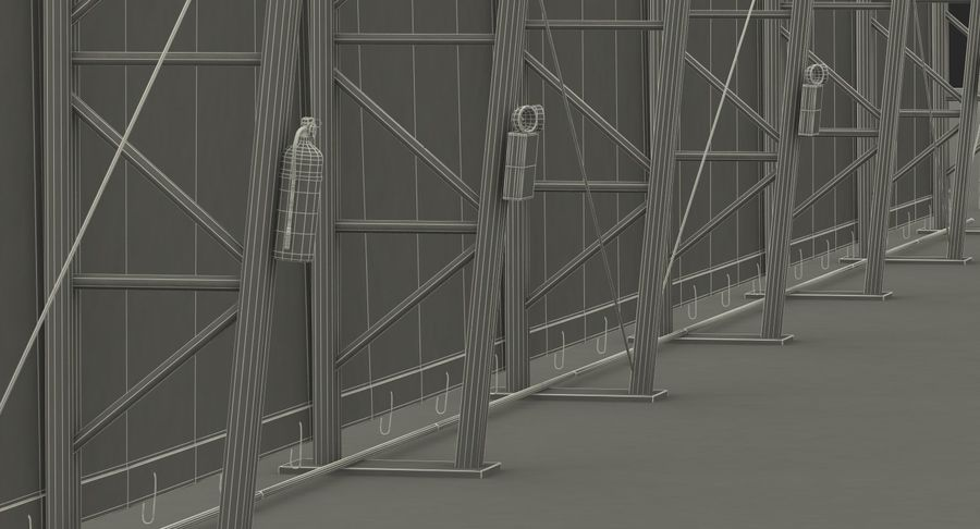 Hangar pour avions royalty-free 3d model - Preview no. 25