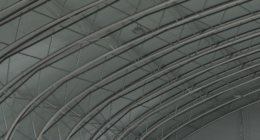 Hangar pour avions royalty-free 3d model - Preview no. 14
