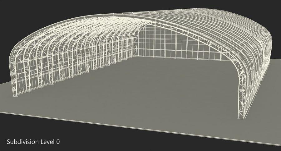Hangar pour avions royalty-free 3d model - Preview no. 18