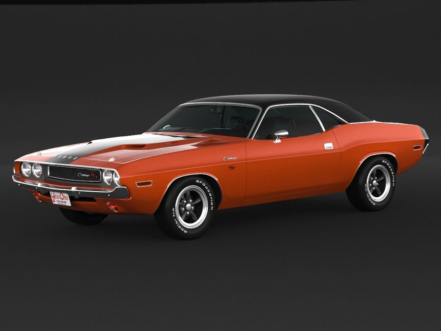 Dodge Challenger rt 1970 royalty-free 3d model - Preview no. 1