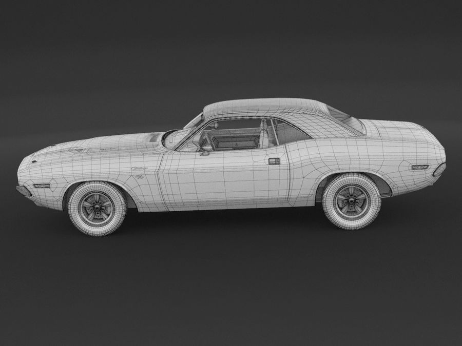 Dodge Challenger rt 1970 royalty-free 3d model - Preview no. 10