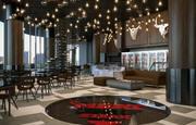 现实的餐厅咖啡厅酒吧室内 3d model