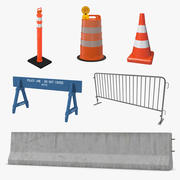 Road Barriers 3D Models Collection 3 3d model