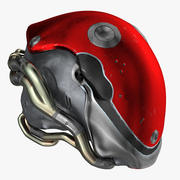 Helmet VR Metal (Textured 12 Colors) 3d model