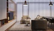 Scena wnętrza mieszkania 3d model