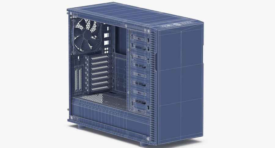 Computer Case royalty-free 3d model - Preview no. 10