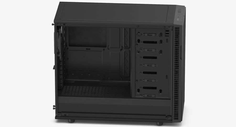Computer Case royalty-free 3d model - Preview no. 5