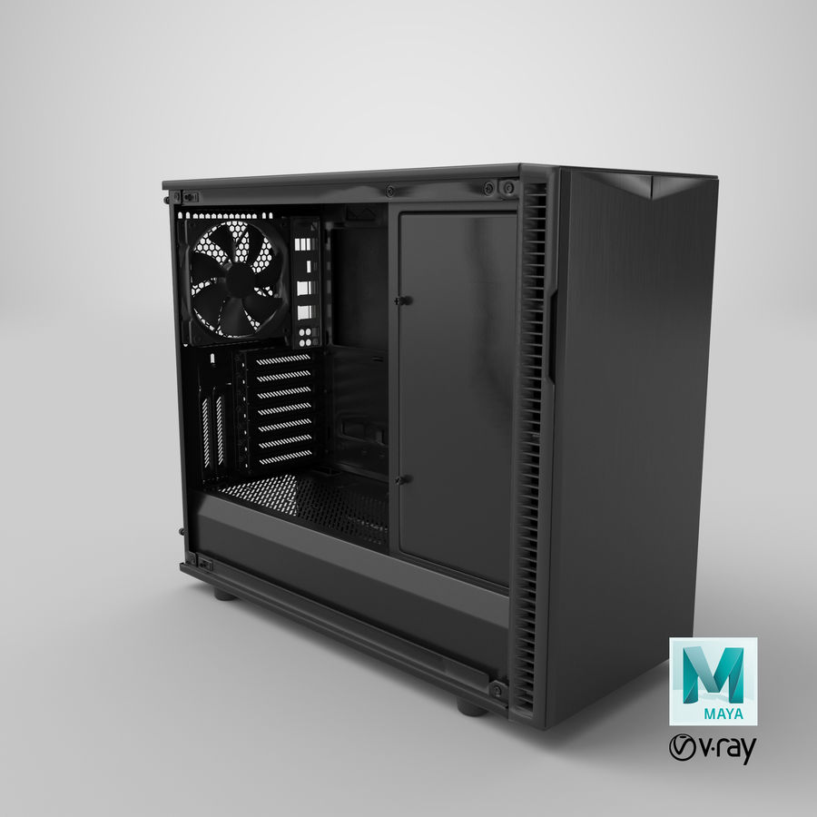 Computer Case royalty-free 3d model - Preview no. 18