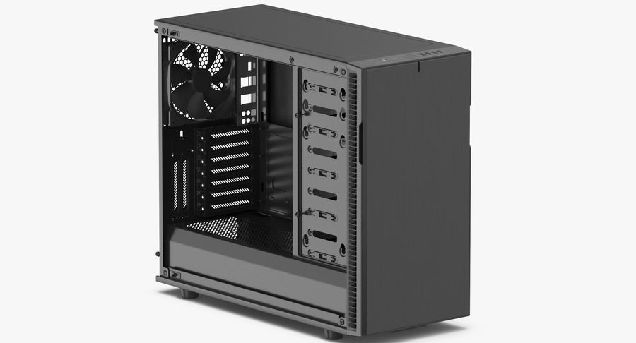 Computer Case royalty-free 3d model - Preview no. 3