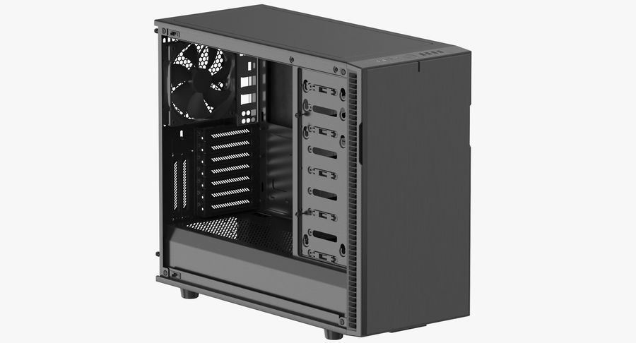 Computer Case royalty-free 3d model - Preview no. 2