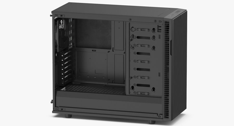 Computer Case royalty-free 3d model - Preview no. 7