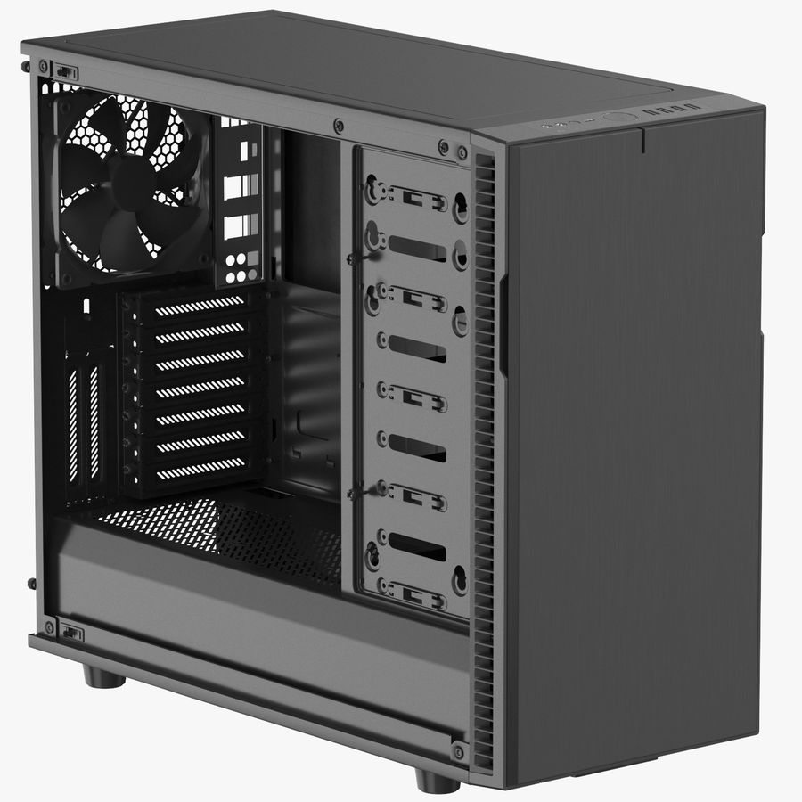 Computer Case royalty-free 3d model - Preview no. 1