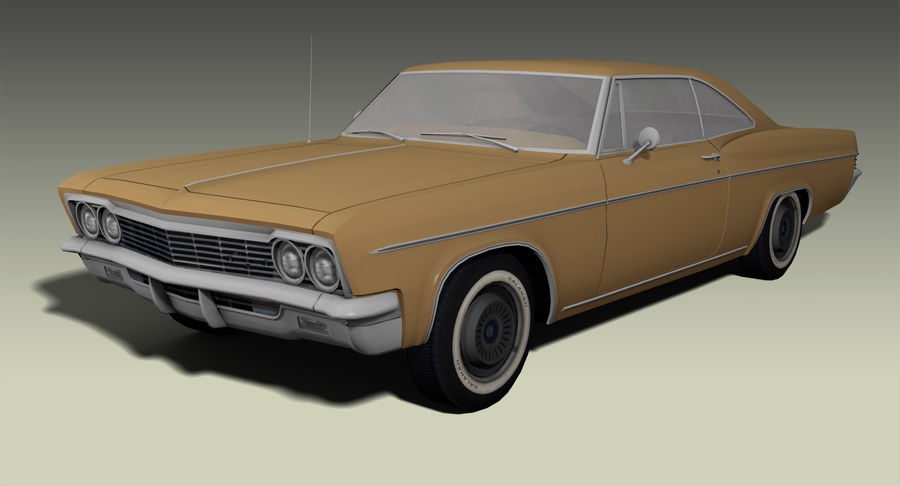 Muscle Car 327 royalty-free 3d model - Preview no. 3
