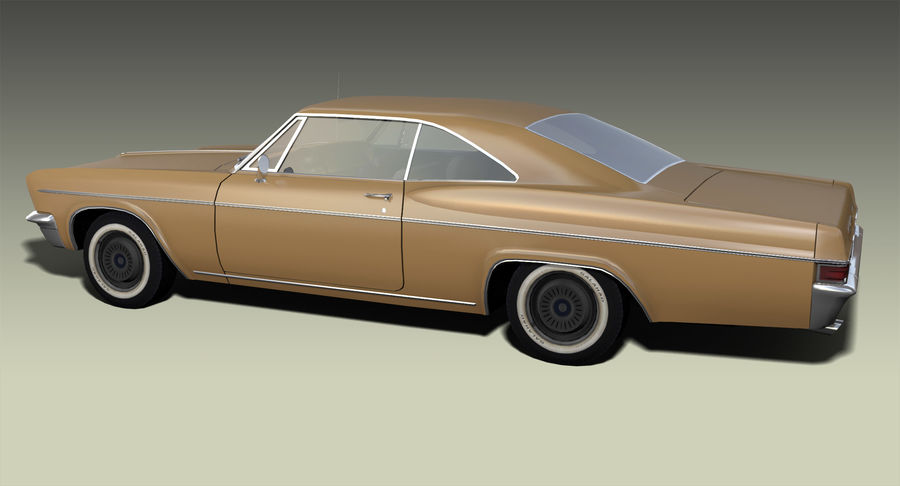 Muscle Car 327 royalty-free 3d model - Preview no. 6