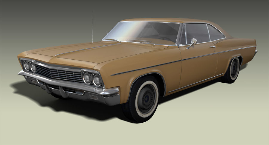 Muscle Car 327 royalty-free 3d model - Preview no. 2