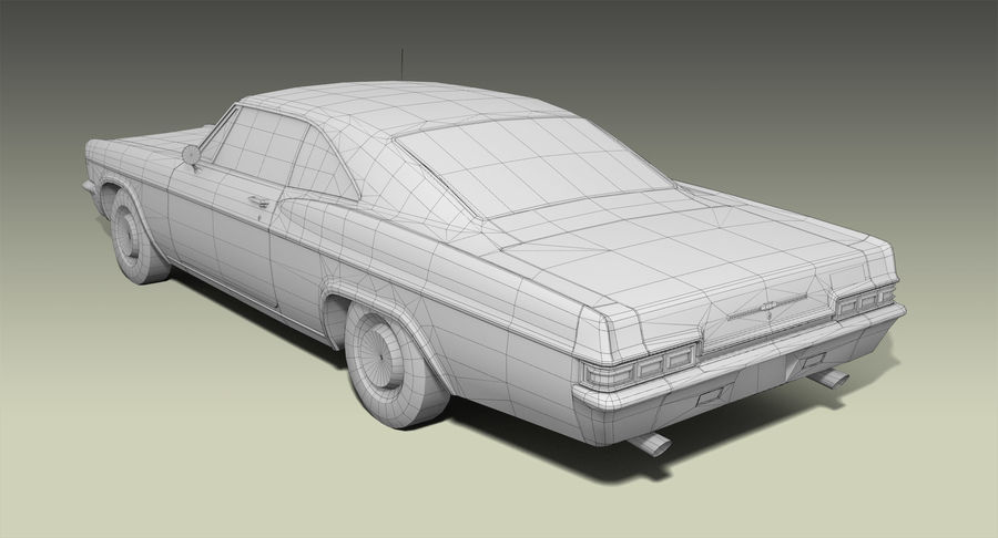 Muscle Car 327 royalty-free 3d model - Preview no. 10