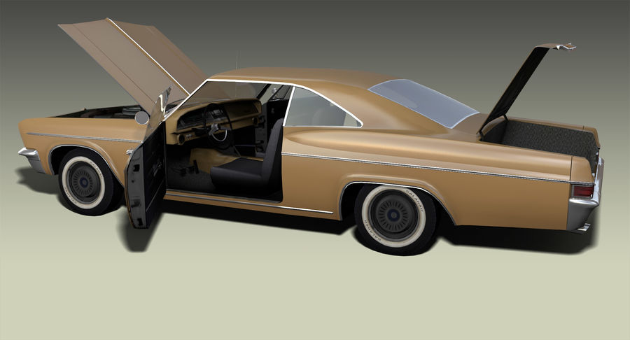 Muscle Car 327 royalty-free 3d model - Preview no. 7