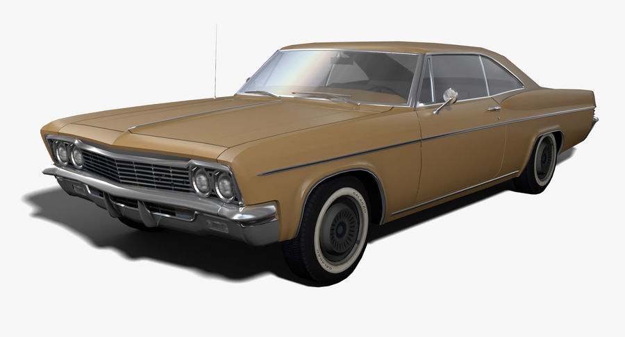Muscle Car 327 royalty-free 3d model - Preview no. 1