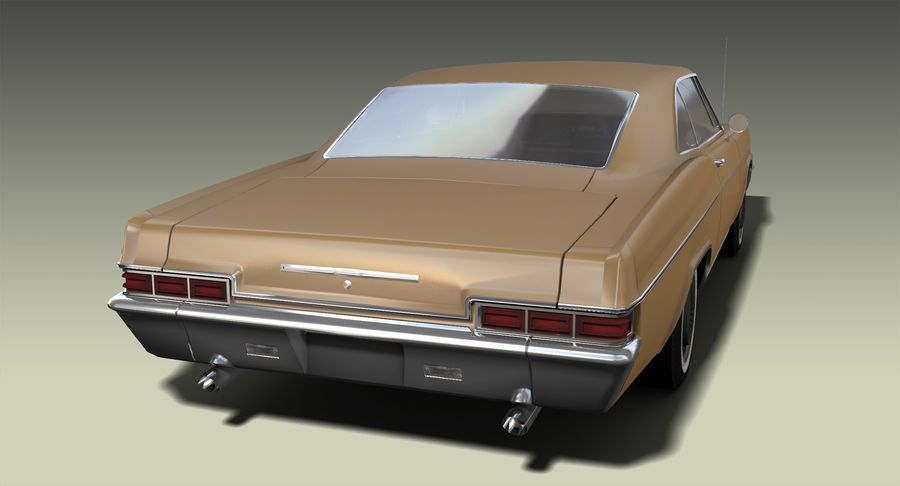 Muscle Car 327 royalty-free 3d model - Preview no. 4