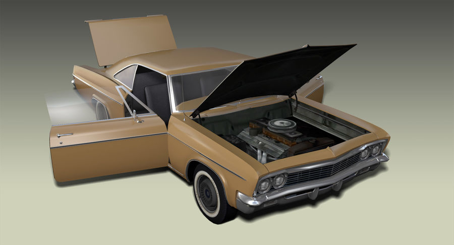 Muscle Car 327 royalty-free 3d model - Preview no. 8