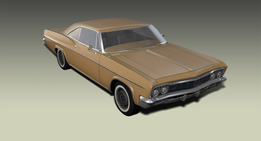 Muscle Car 327 royalty-free 3d model - Preview no. 5