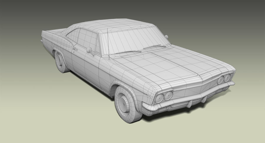 Muscle Car 327 royalty-free 3d model - Preview no. 9