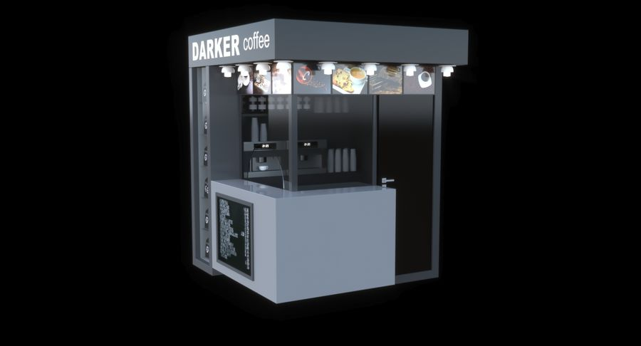 Kafé royalty-free 3d model - Preview no. 7