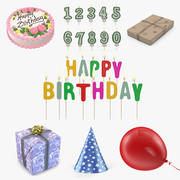 Alles Gute zum Geburtstag 3D Models Collection 2 3d model