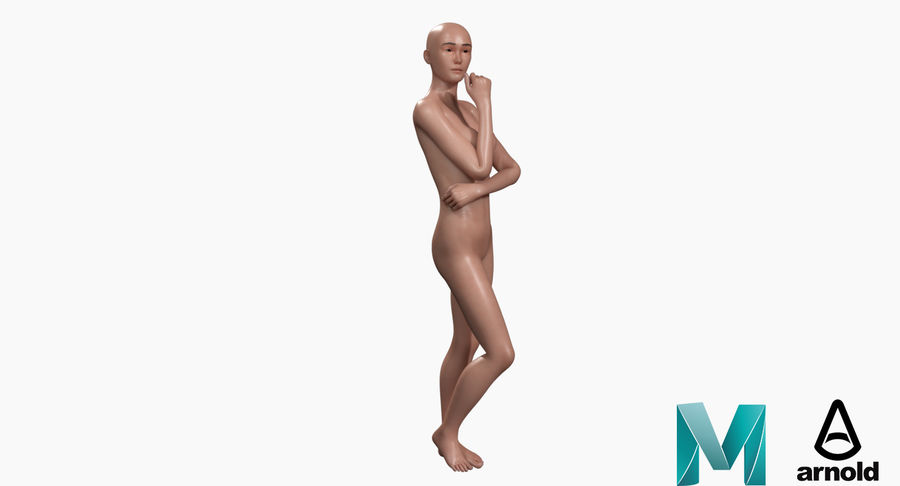 Female Base Mesh royalty-free 3d model - Preview no. 17